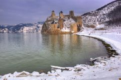 Golubac fortress on Danube river, Serbia Stock Photography
