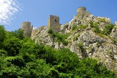 Golubac fortress in Serbia Royalty Free Stock Images