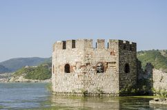 Golubac fortress in Serbia Royalty Free Stock Photo