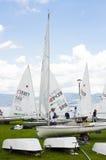 Golubac, Sérvia - 5 de junho de 2016, barcos de navigação no dolli foto de stock