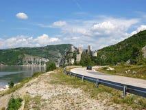 Golubac, Serbien Mittelalterliche Festung lizenzfreies stockbild