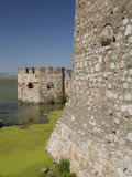 Golubacvesting op de rivier van Donau dicht bij Roemeense en Servische B Royalty-vrije Stock Afbeelding