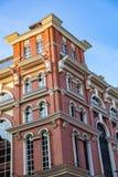 Golutvin工厂的砖建筑学在莫斯科,俄罗斯 免版税库存照片