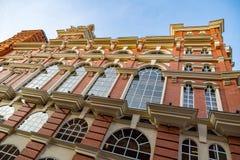 Golutvin工厂的砖建筑学在莫斯科,俄罗斯 免版税图库摄影
