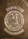 Golv av statehousen i Baton Rouge USA Arkivbild