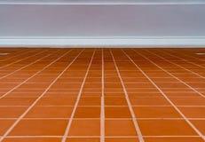 Golv för keramiska tegelplattor Royaltyfri Fotografi
