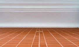 Golv för keramiska tegelplattor Arkivbilder