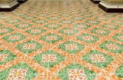 Golv för keramiska tegelplattor Royaltyfria Bilder