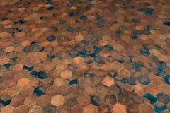 Golv för keramiska tegelplattor Royaltyfri Bild
