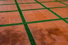 Golv för keramiska tegelplattor Fotografering för Bildbyråer