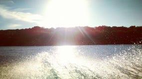 Golven aan de zonsondergang Royalty-vrije Stock Foto