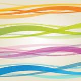 Golven - Abstracte Gebogen Achtergrond Stock Afbeelding
