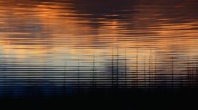 Golven bij Zonsondergang Stock Afbeelding