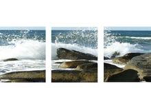 Golven die dichtbij Cholla-Baai, Mecico verpletteren Stock Afbeeldingen