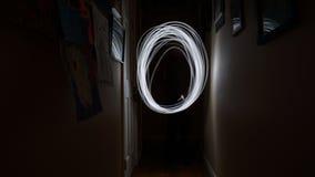 Golven die van Licht door de Lucht vliegen Stock Foto