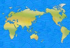 Golven en wereld stock illustratie