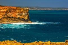 Golven op de Vreedzame kust de reis aan Australië Stock Afbeeldingen