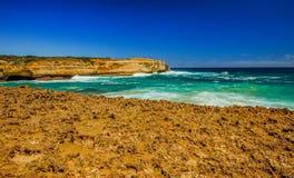 Golven op de Vreedzame kust de reis aan Australië Royalty-vrije Stock Foto's