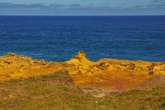 Golven op de Vreedzame kust de reis aan Australië Royalty-vrije Stock Foto