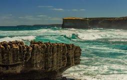 Golven op de Vreedzame kust de reis aan Australië Stock Fotografie