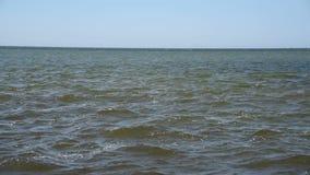 Golven op de Zwarte Zee, horizonlijn, de Oekraïne stock footage