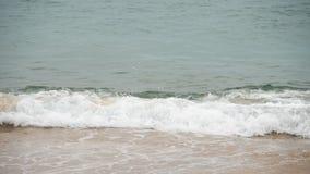 Golven op een zandig strand stock footage