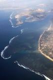Golven op het eiland van Bali Stock Afbeeldingen