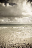 Golven op tropisch strand Royalty-vrije Stock Foto's
