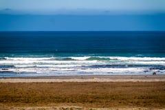 Golven op Vreedzaam Oceaan, Nationaal Park Chiloe royalty-vrije stock fotografie
