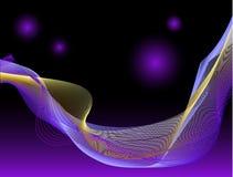 Golven in ruimte vector illustratie