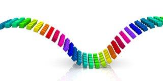 Golven van kleurrijke kubussen Stock Foto