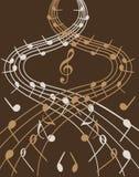 Golven van muziek Stock Fotografie