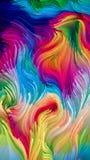 Golven van Vloeibare Kleur royalty-vrije stock afbeelding