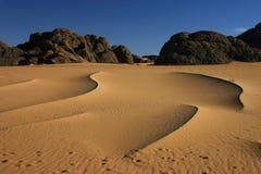 Golven van zand Stock Foto's