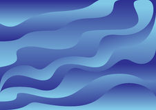 Golven - vectorachtergrond Stock Foto's