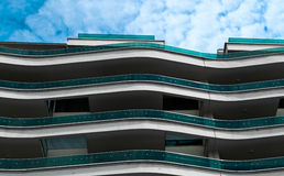 Golvend balkon Stock Foto