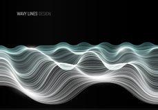 Golvend het ontwerpmalplaatje van de lijnen abstract banner royalty-vrije illustratie