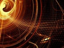 Golvend net - abstract digitaal geproduceerd beeld Stock Afbeelding