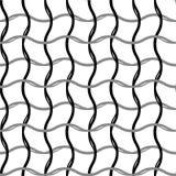 Golvend, zigzag, kruiselings netpatroon Naadloos Geometrisch Patroon Geometrische eenvoudige druk Vector die textuur herhalen royalty-vrije illustratie