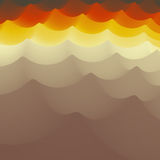 Golvende Achtergrond 3d Abstracte vectorillustratie Het malplaatje van het ontwerp Modern patroon Vector illustratie voor uw zoet Royalty-vrije Stock Afbeeldingen