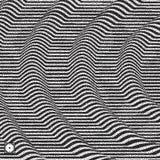 Golvende Achtergrond Zwart-wit korrelig dotworkontwerp Pointillismepatroon met optische illusie Gestippelde vectorillustratie royalty-vrije illustratie