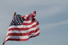 Golvende Amerikaanse Vlag stock afbeelding