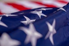 Golvende Amerikaanse Vlag stock foto
