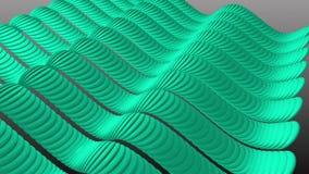Golvende Aqua Stripes Sine stock footage