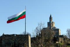 Golvende Bulgaarse vlag Royalty-vrije Stock Foto