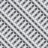 Golvende Cirkels, Zwart-witte Optische illusie, Vectorseamles royalty-vrije illustratie
