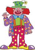 Golvende clown stock illustratie