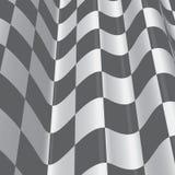 Golvende die oppervlakten, met geruit patroon in kaart worden gebracht, die in grijze schaal verdraaien Stock Foto
