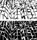 Golvende die oppervlakten, met geruit die patroon in kaart worden gebracht, in zwart-wit wordt verdraaid Royalty-vrije Stock Foto