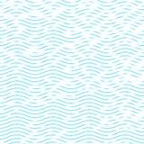 Golvende en bochtige horizontale lijnen stock illustratie